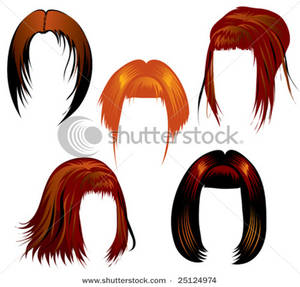 Fake hair clipart.