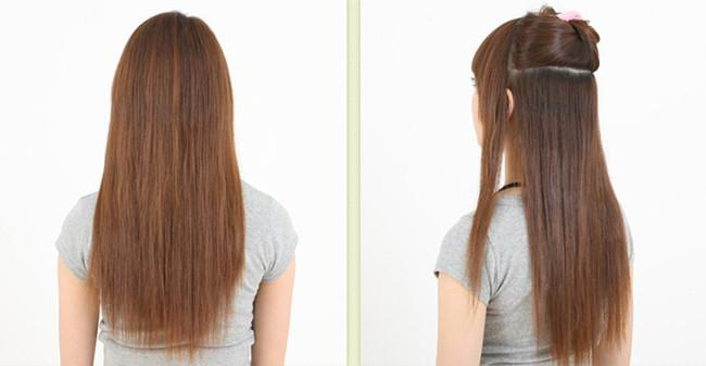 Fashion Women Long Hair Extensions Straight Synthetic Clip In On.