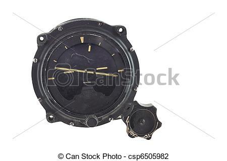 Stock Photo of artificial horizon instrument.