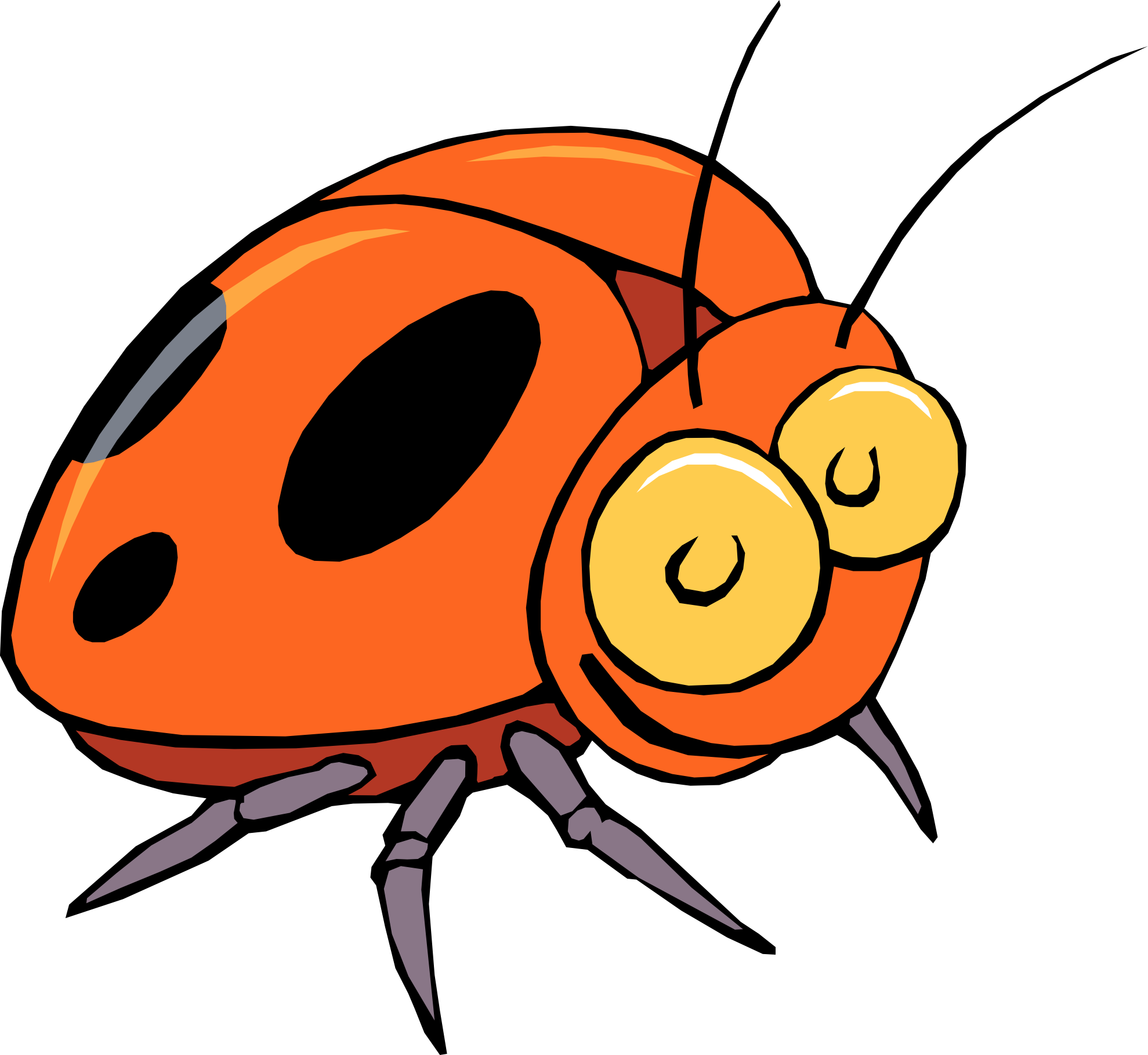 Cartoon Bugs And Insects.