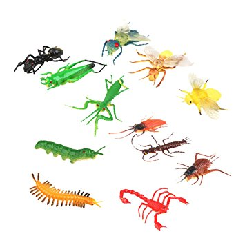 Buy Generic Plastic Artificial Insect Model Toy 12pcs Colorful.