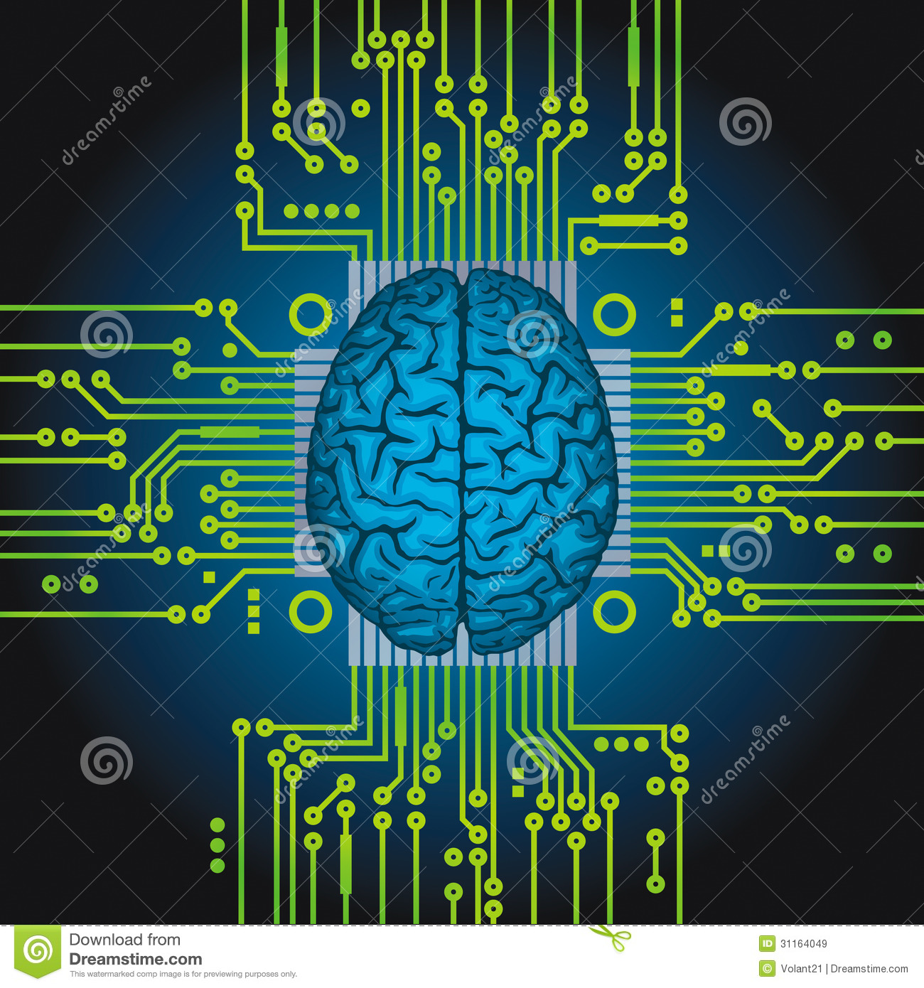 Artificial Intelligence. Royalty Free Stock Images.