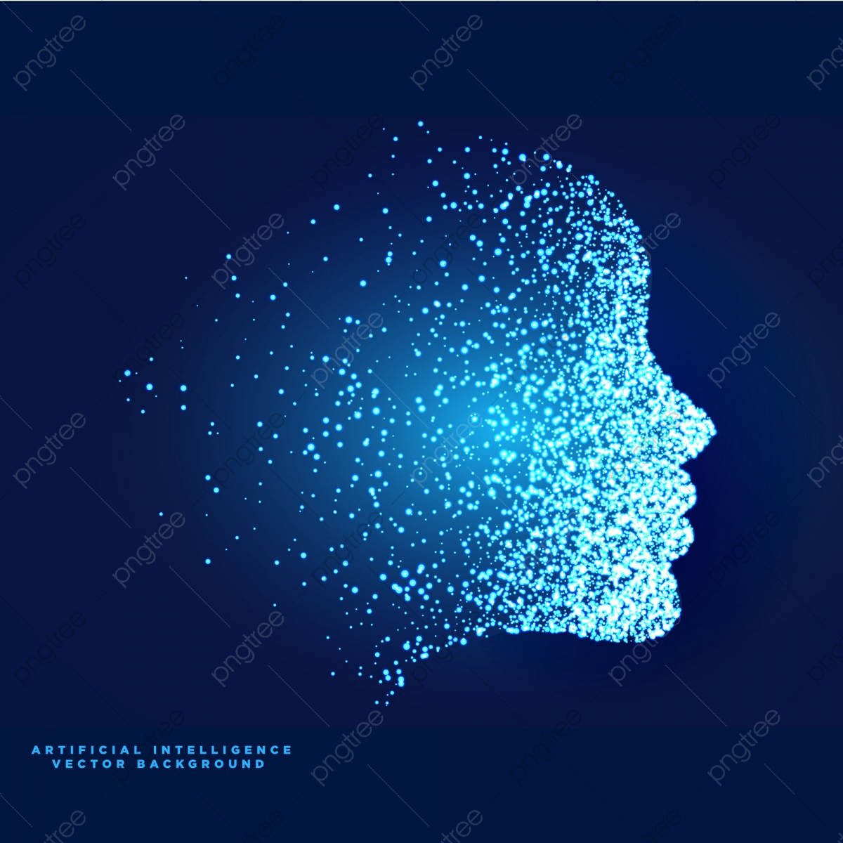 Artificial Intelligence Vector, Abstract, Technology, Blue PNG and.