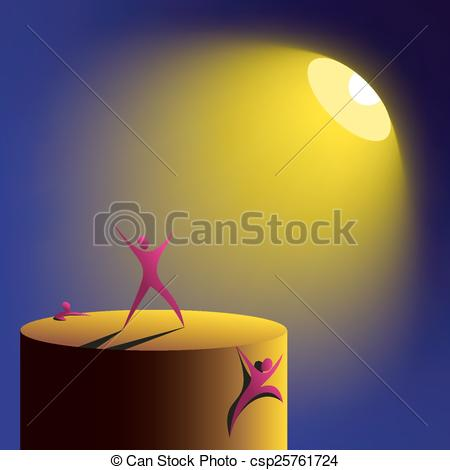 Vector Illustration of artificial lighting spotlight.