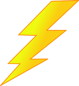 Lighting Bolt Clip Art.