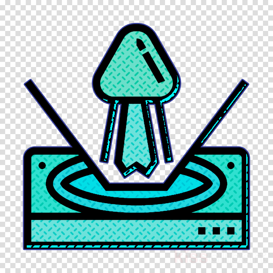 Hologram icon Artificial Intelligence icon clipart.