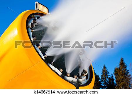 Stock Photo of Snow making gun k14667514.