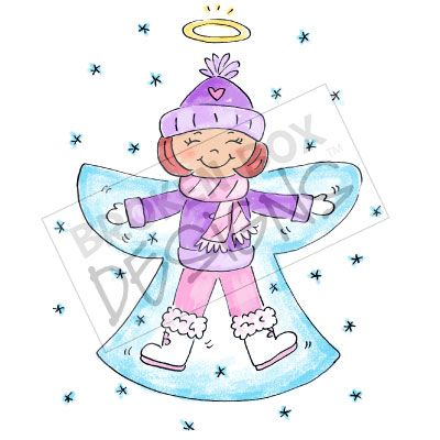 Making Snow Angel Clipart.