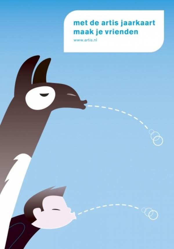 "Artis Zoo: ""LLAMA"" Print Ad by FHV BBDO Amsterdam."