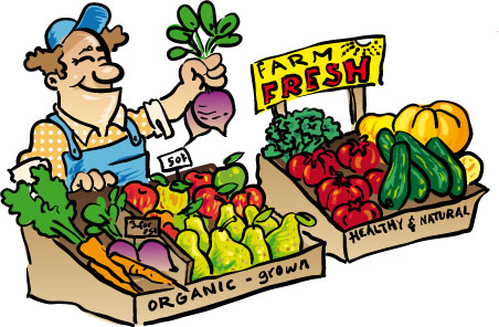 Weekly Market Clipart.
