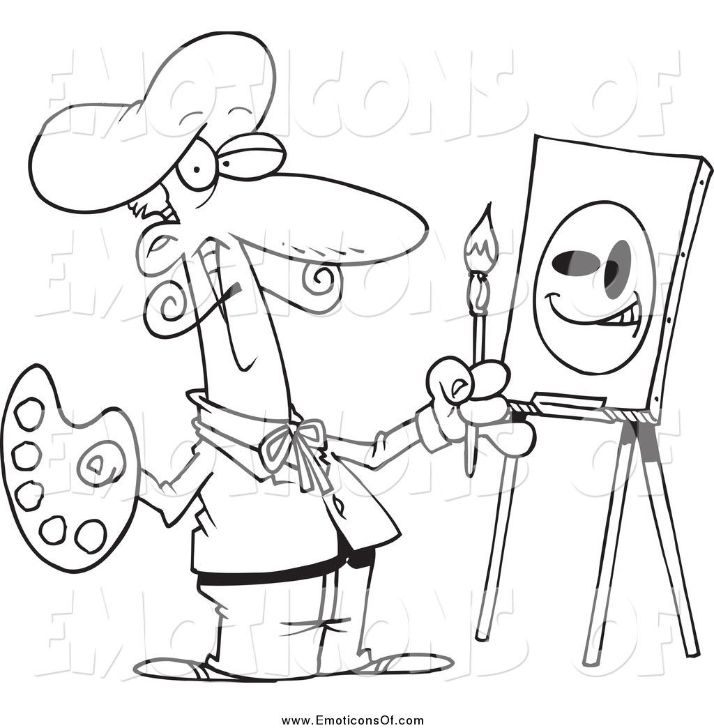 Artist Clipart Black And White.