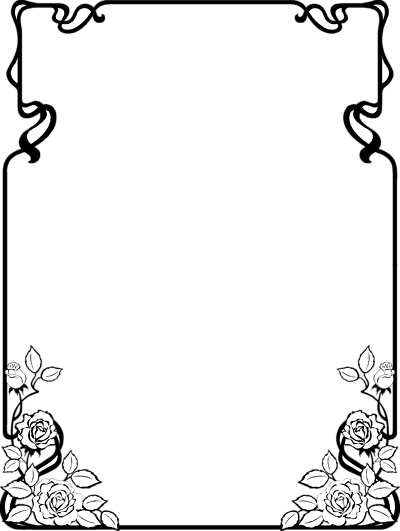 Black And White Png Borders Of Art Pallette & Free Black And.