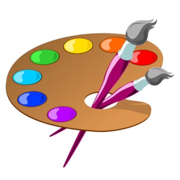 Artist Palettes Clipart.