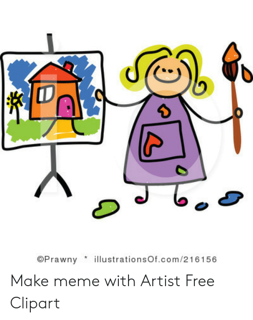 OPrawnylstrationsOfcom216156 Make Meme With Artist Free Clipart.