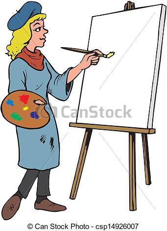 Artist Girl Clipart.