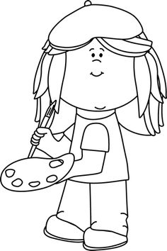 Free Artist Clipart Black And White, Download Free Clip Art.