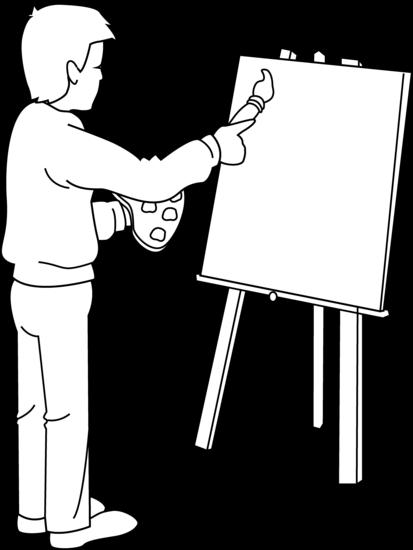 Artist free art supplies clipart public domain clip.