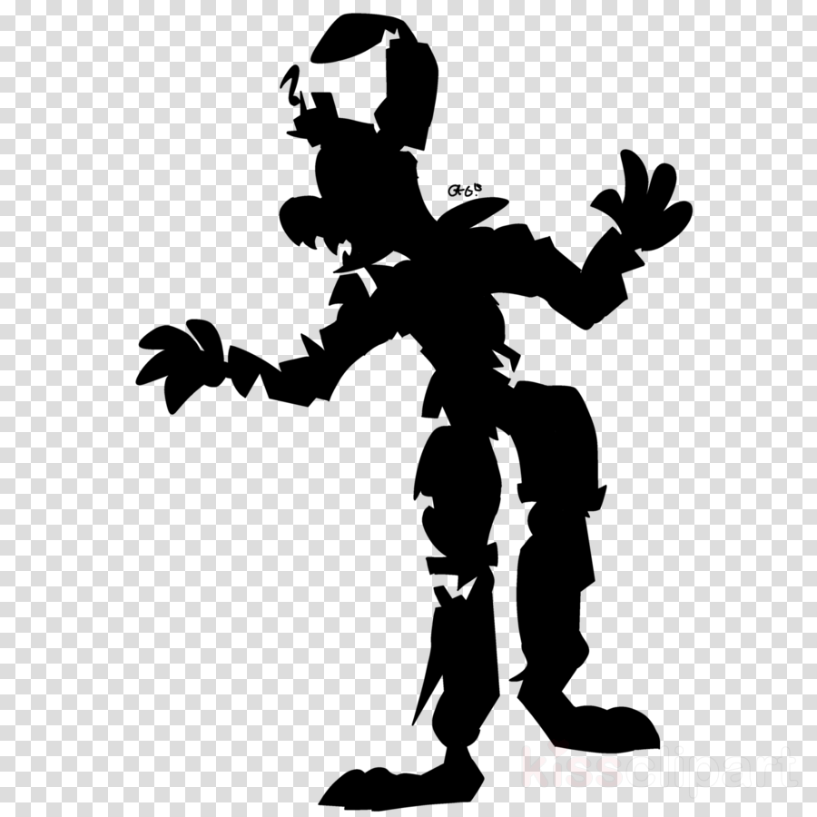 silhouette clipart Five Nights at Freddy\'s 3 Artist clipart.