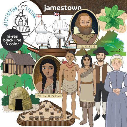 Jamestown Colony Clip Art.