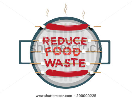 Love Food Hate Waste Graphic Design Stock Vector 290062025.