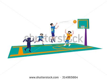 Basketball Game Concept Editable Clip Art Stock Vector 314965664.