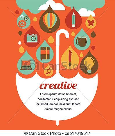 Vector Clip Art of creative umbrella.