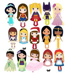 Prince and princess clip art 12png300dpi for commercial and.