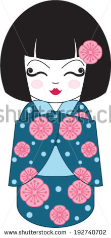 Kokeshi Doll Stock Vector 192740702.