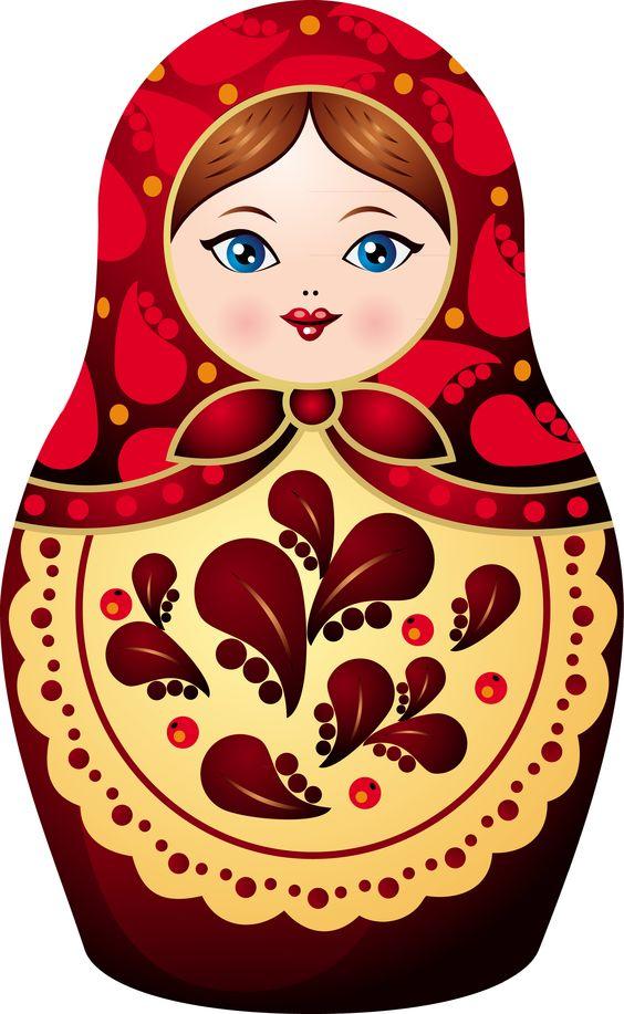 Sticker matryoshka doll.