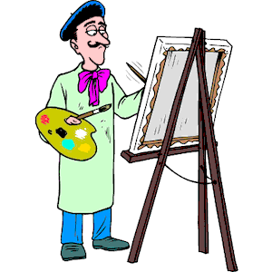 Artist at Easel clipart, cliparts of Artist at Easel free download.