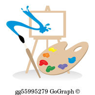Painting Easel Clip Art.