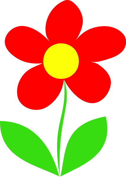 Flower With Stem Clipart Red in 2019.