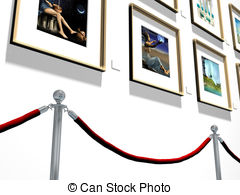 Stock Illustration of Artist painting a picture.