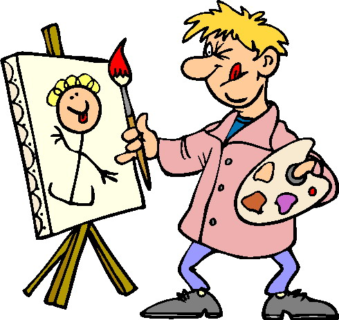 Artist Gallery Art in Clip Art.