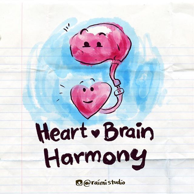 Lets connect our heart and brain #heartbrainharmony.