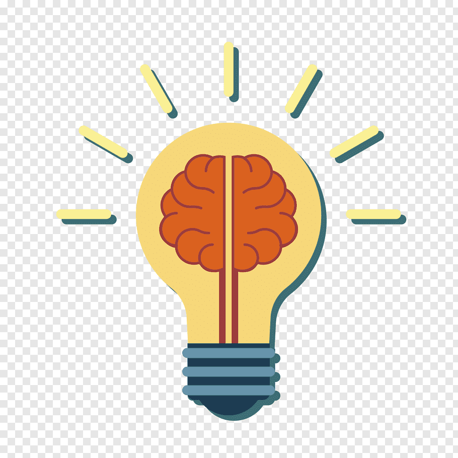 Brain lamp illustration, Incandescent light bulb Human brain.