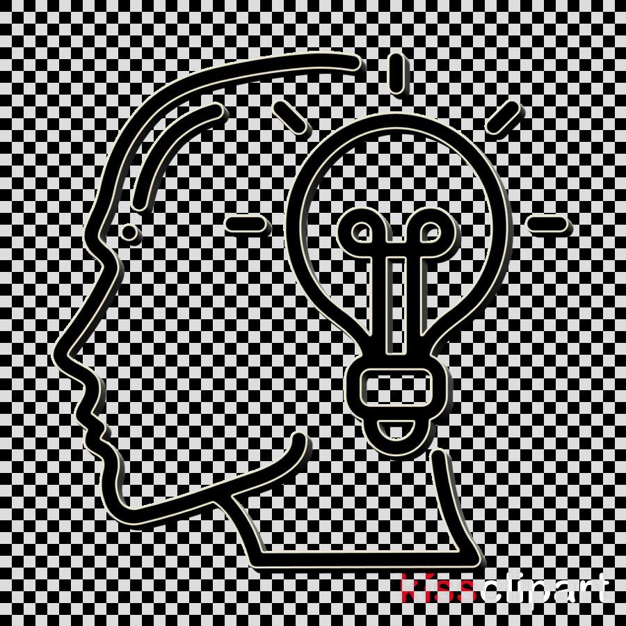 Brain icon Idea icon Human mind icon clipart.
