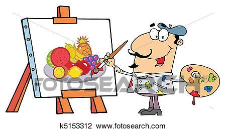 Artist Painter Clipart.