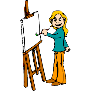 Artist Painting clipart, cliparts of Artist Painting free.