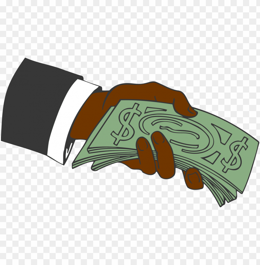 hand giving money vector clipart image.