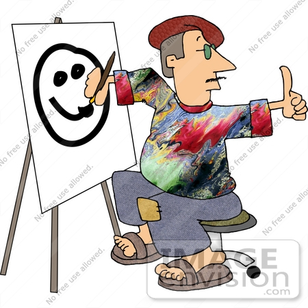 Clipart of artists painting.