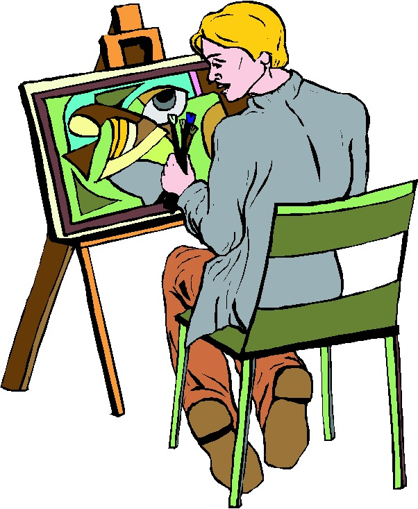 Artist Painting Clipart.