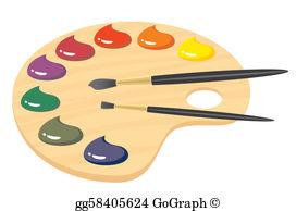 Paint Palette Clip Art.