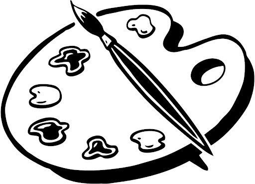 Free Paint Palette Clip Art Black And White, Download Free.