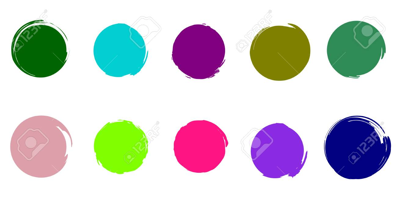 Trendy Colors Brush Circles Color Palette. UFO Green, Plastic...