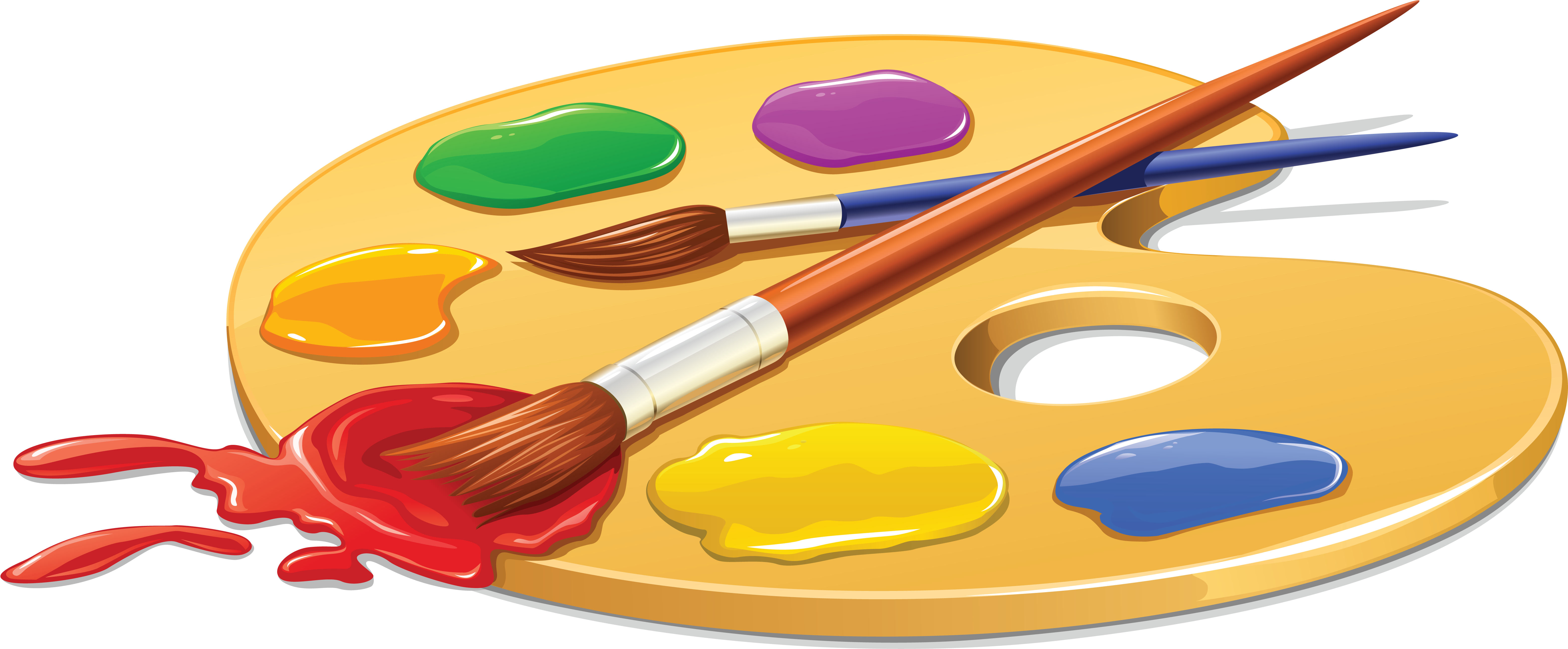 Palette Painting Brush Clip Art.