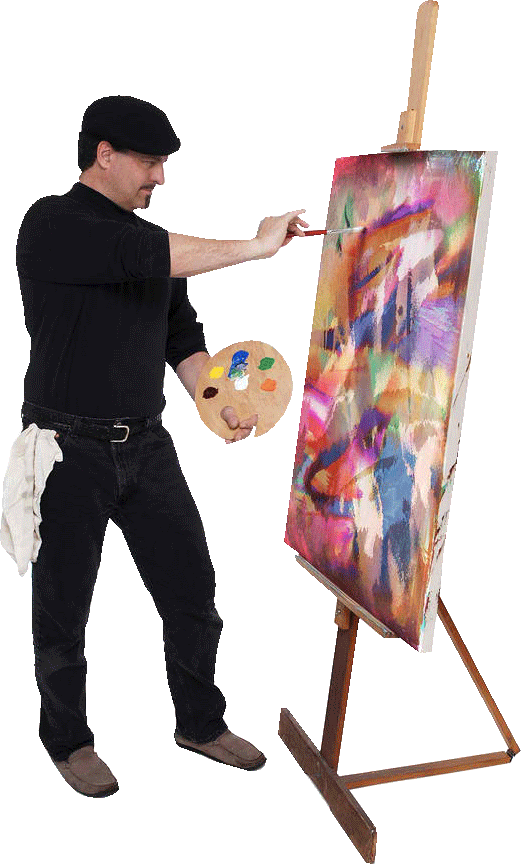Artist Painting Png Vector, Clipart, PSD.