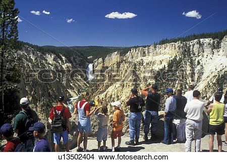 Stock Photo of Yellowstone National Park, WY, Wyoming, Yellowstone.