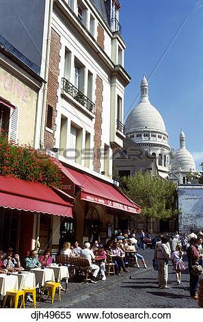 Stock Image of France, Paris, Montmartre, Sacre Coeur, Artists.