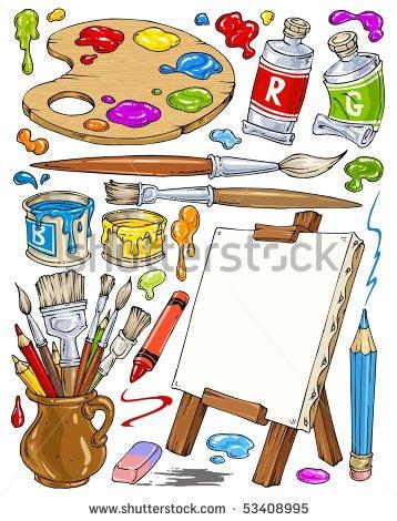 Artist Tools Clipart.